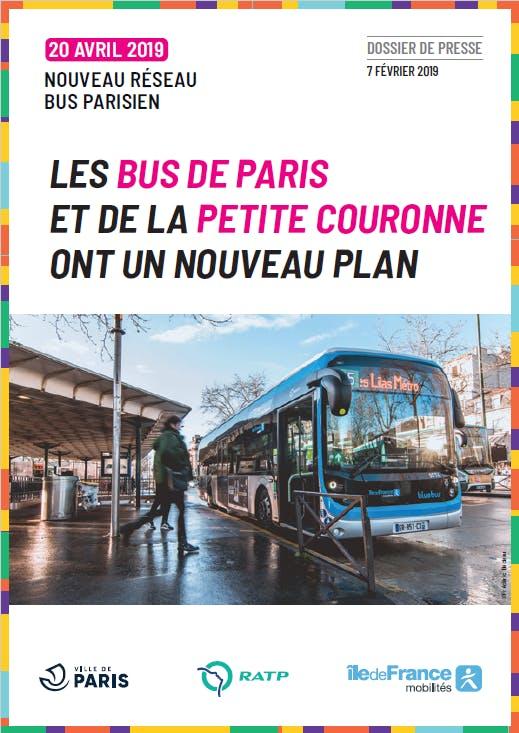 Campagne de communication : Les bus de Paris et de la petite couronne ont un nouveau plan