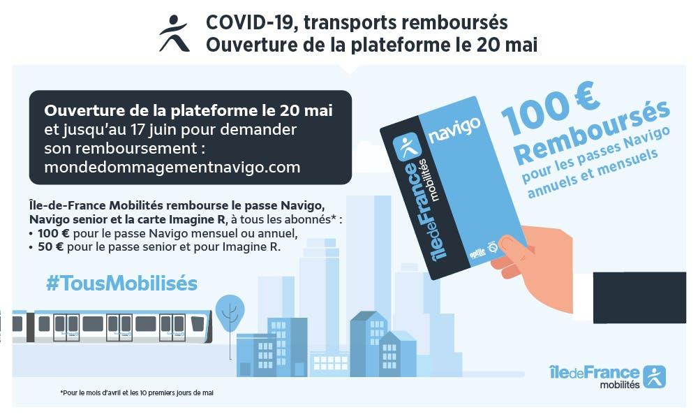 demande de carte navigo Remboursement intégral des Passes Navigo à tous les abonnés pour