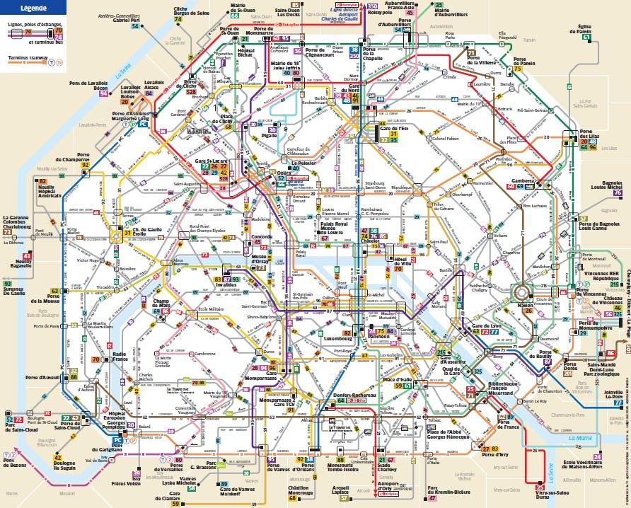 Nouveau plan itinéraire pour les Bus de Paris