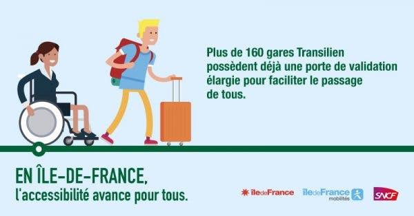 Communication Île-de-France Mobilités : en Île-de-France, l'accessibilité avance pour tous (personnes à mobilité réduite)