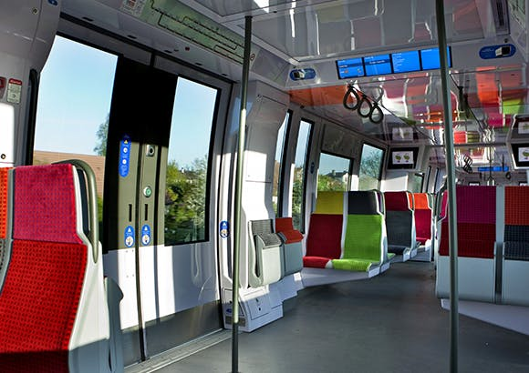 Intérieur trains et RER neufs ou rénovés