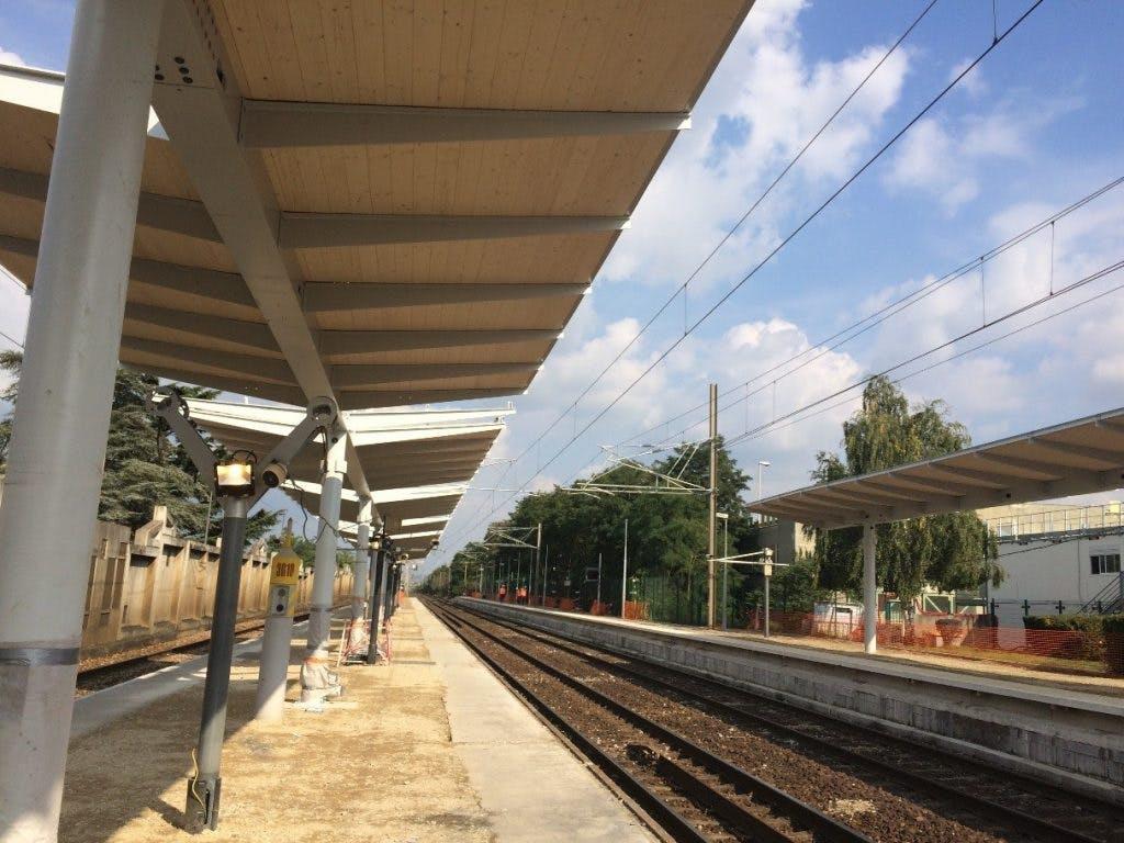 Perspective sur l'avancement des travaux en gare d'Aubergenville-Elisabethville