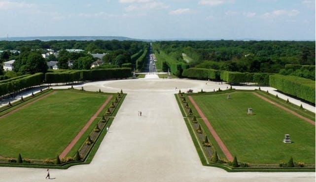 Perspective sur espace vert, projet patrimoine exceptionnel