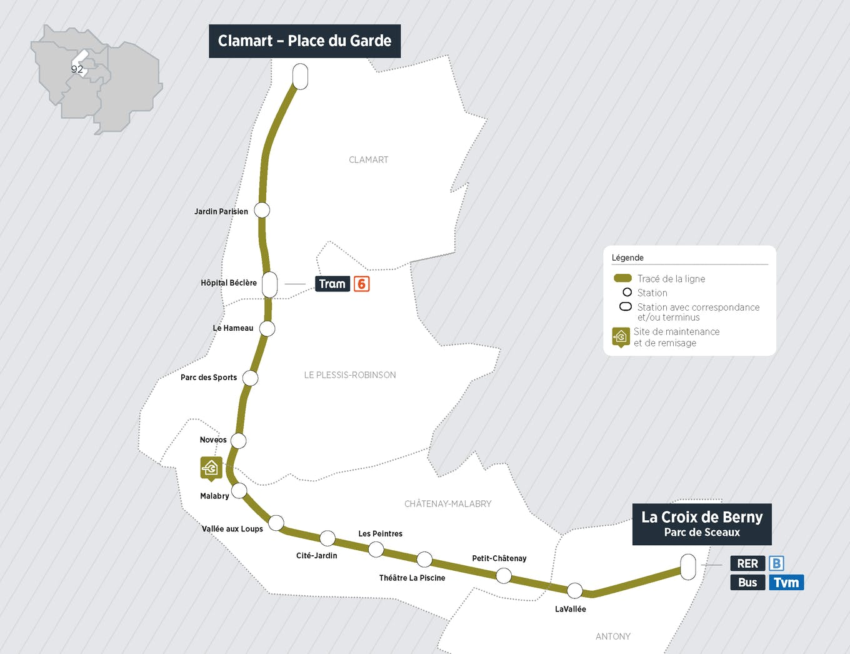 Plan du projet Tram ligne 10 Nouvelle ligne Clamart > Antony