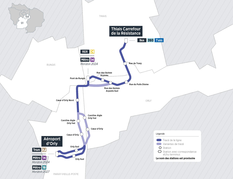Plan du projet Bus Nouvelle ligne Senia > Orly
