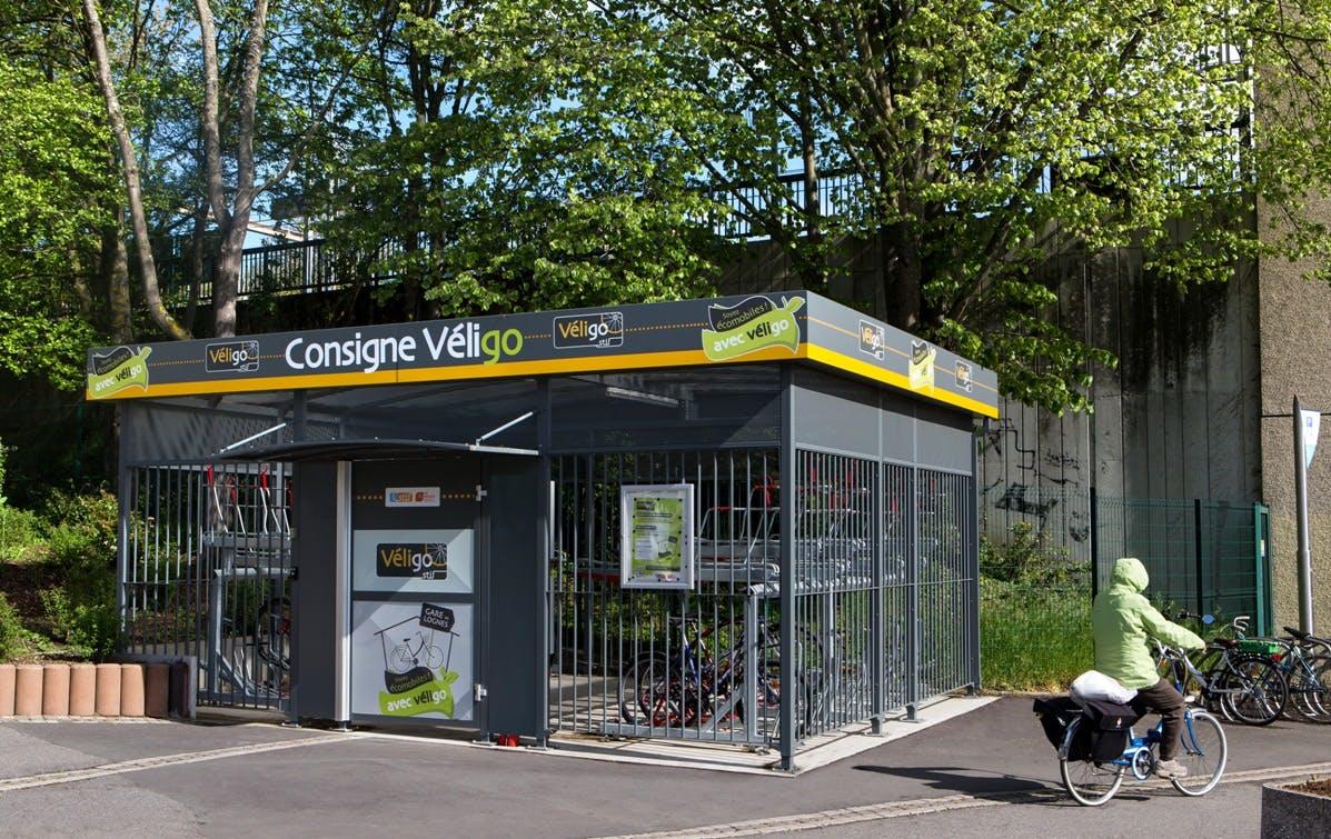 Espace Véligo sécurisé pour les voyageurs