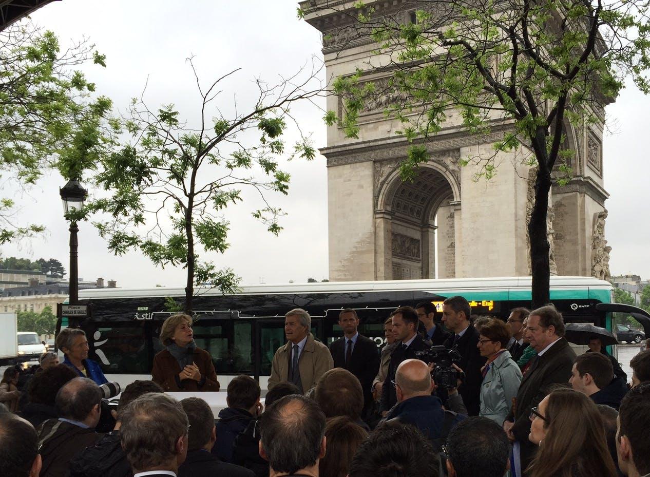 Evénement de lancement du bus 100% électrique sur la ligne 341
