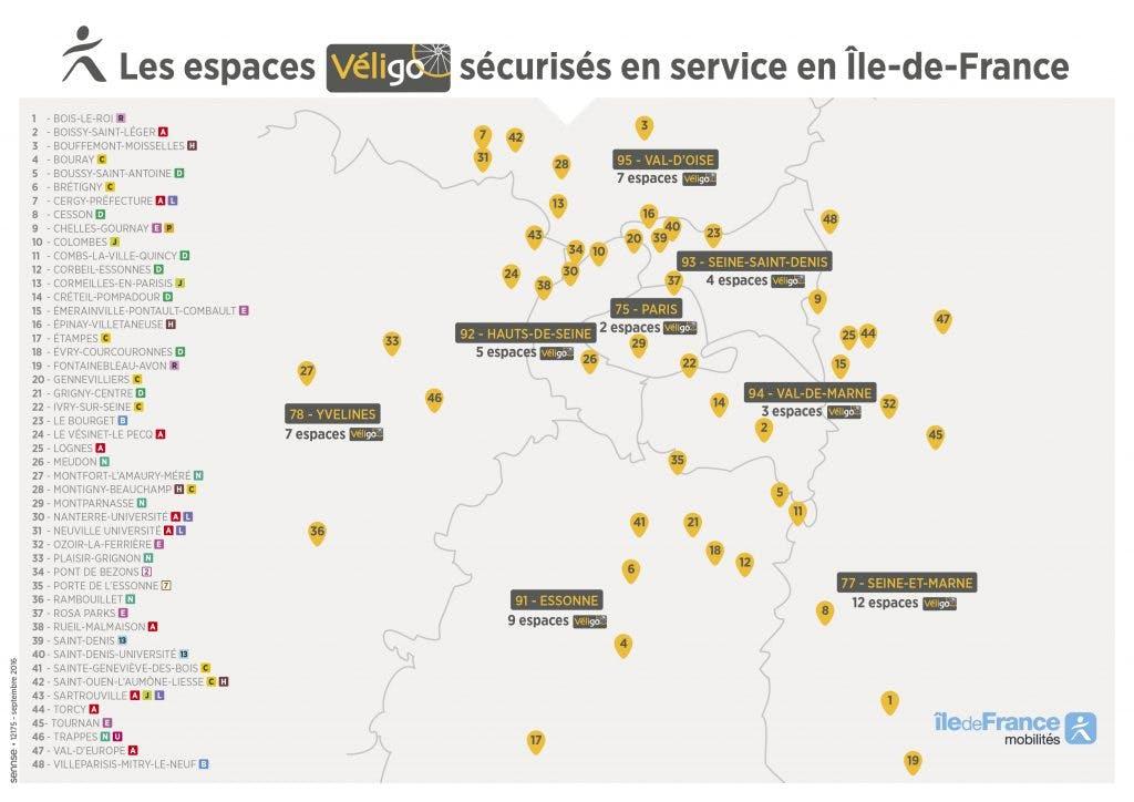 Cartographie espace Véligo