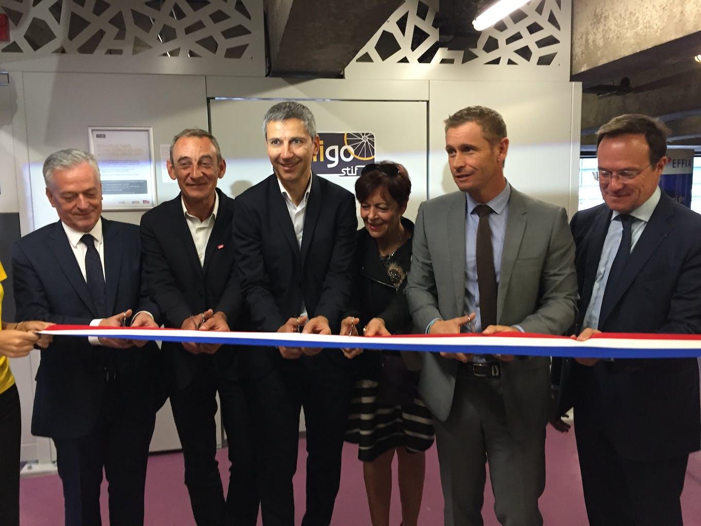 Cérémonie d'inauguration de l'espace Véligo Gare Montparnasse
