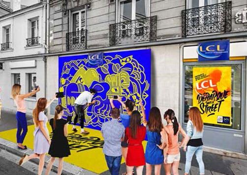 LCL organise une opération de Street Art en « live »