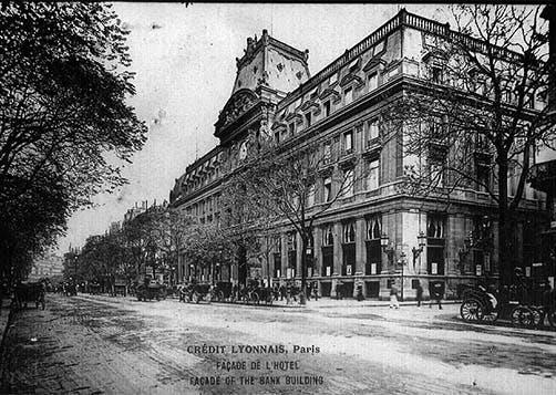 façade hôtel des italiens - carte postale