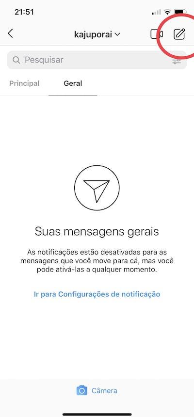 Instagram Direct: envie mensagens para seus contatos