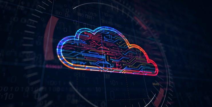 Nuvem: imagem em formato de nuvem, assim como no céu, porém tecnológica e em led