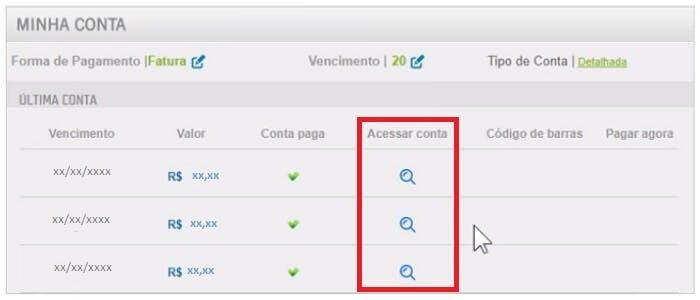 imagem demonstração acesso a 2 via tim pelo navegador