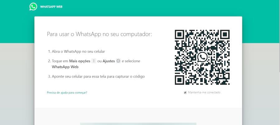 WhatsApp Web: tela principal