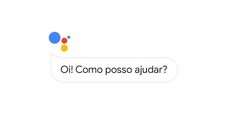"""Google Assistente: mensagem """"como posso ajudar"""""""