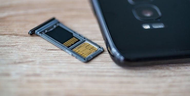 Chip de celular no slot