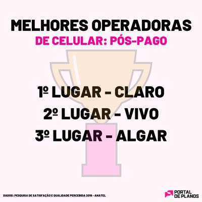 Melhores operadoras de celular pós-pago 2020