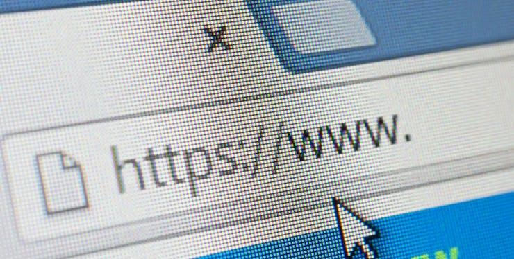 Navegador de internet: tela exibindo a barra de endereço