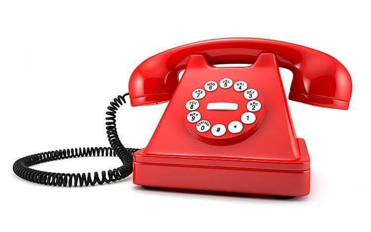 Fotografia de telefone vermelho