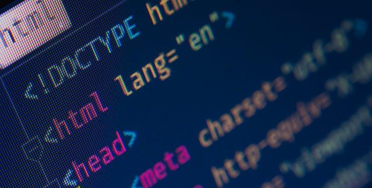 Marcação de código HTML em uma página