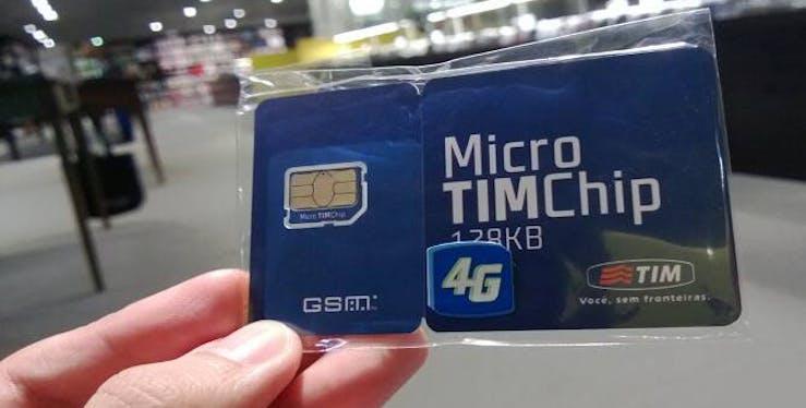 Imagem do chip da TIM  - como cadastrar o chip da TIM