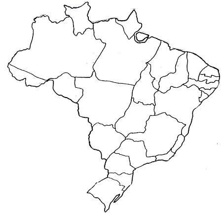 desenho mapa do Brasil lojas vivo próximas