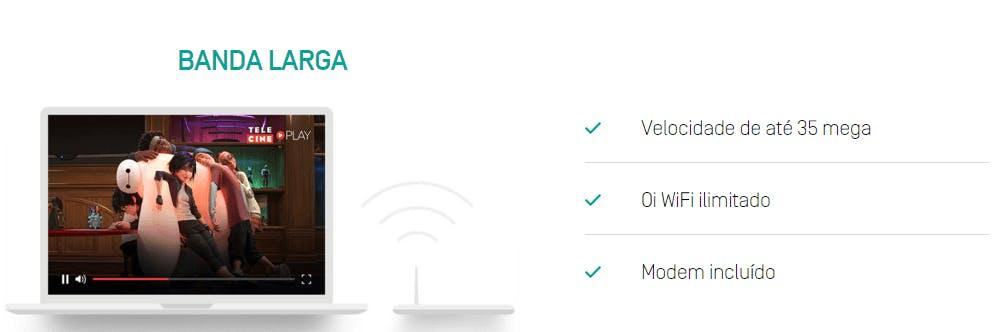 Notebook com banda larga Oi