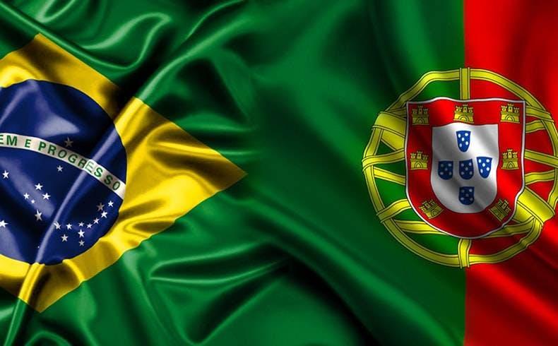 Como ligar para Portugal - Bandeira Brasil Portugal