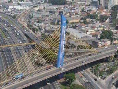 Vista aérea da cidade de Guarulhos.