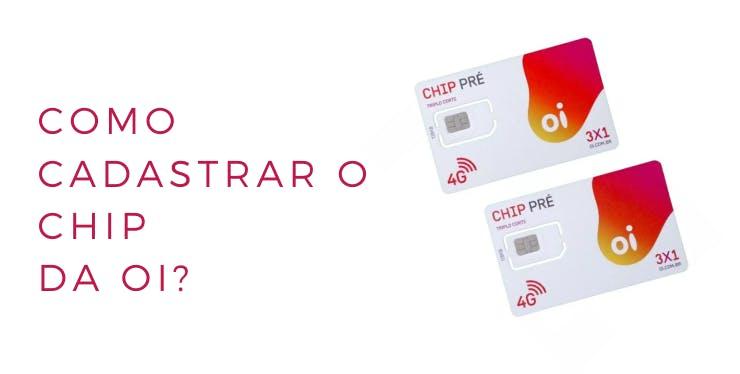 Imagem com chips da operadora Oi