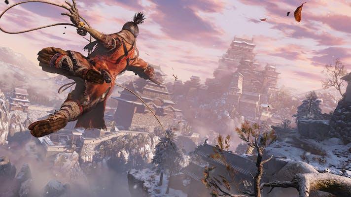 Congelamento de tela de uma das cenas do jogo Sekiro