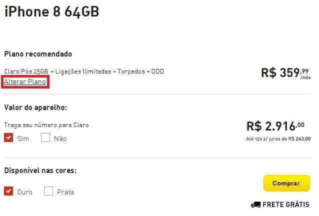 Planos iPhone 8 64GB