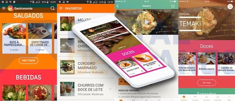 Internet da Oi - App de Gastronomia
