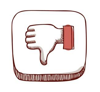 """ilustração """"dislike"""" redes sociais"""