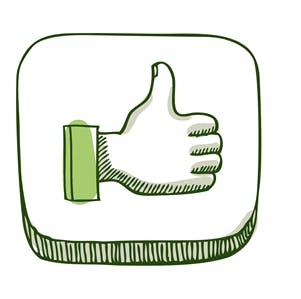 """ilustração """"like"""" nas redes sociais"""