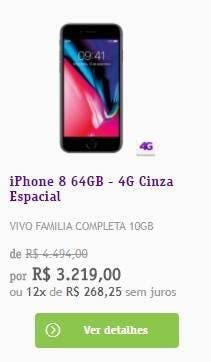 iPhone 8 64GB - Loja Vivo