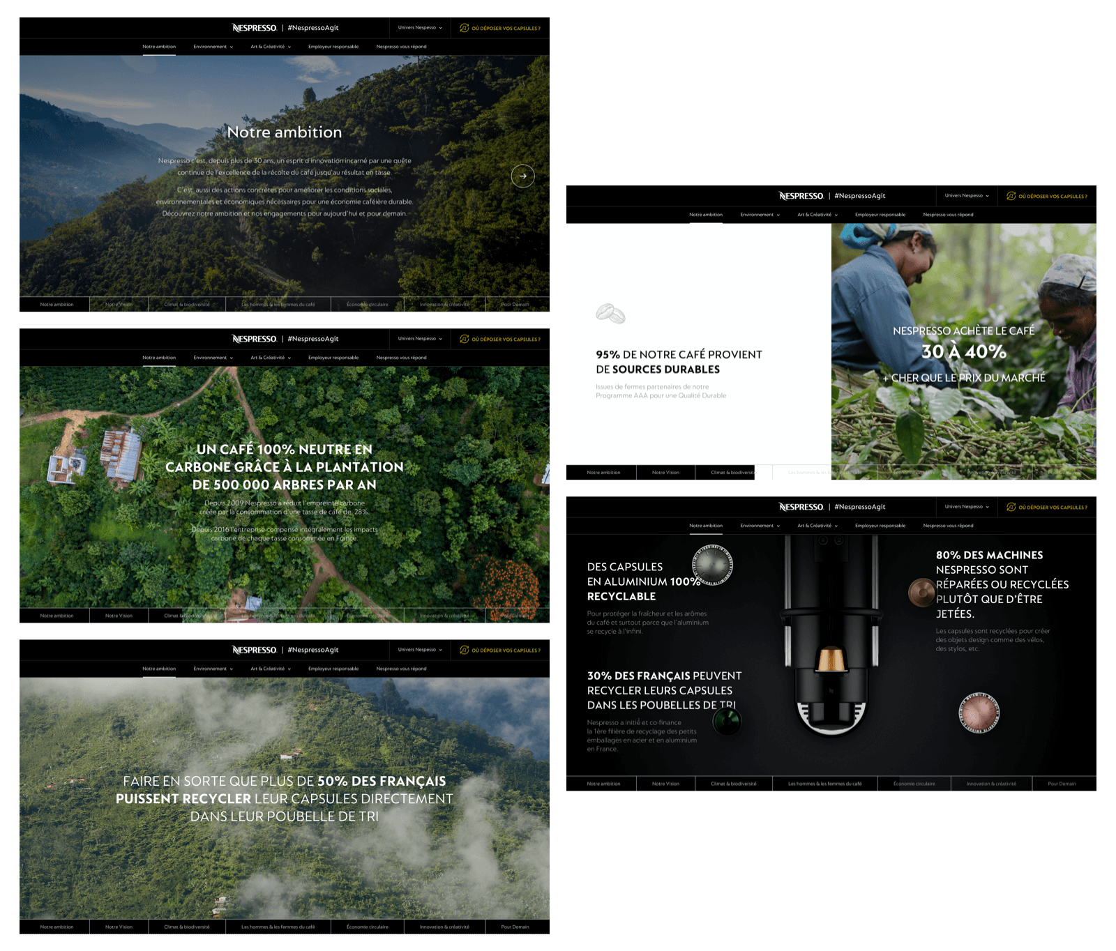 Nespresso agit ambition timeline page