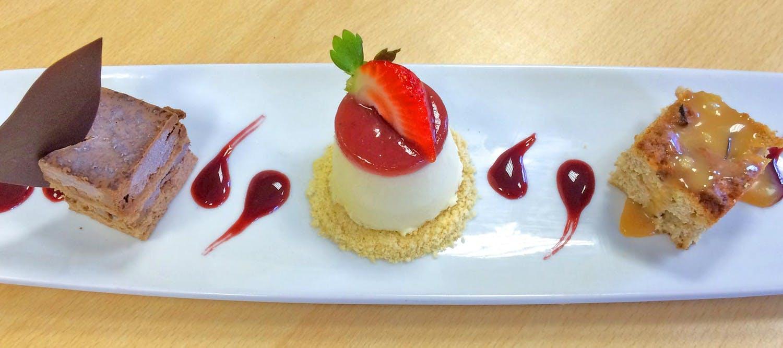 Strawberries & Cream Pannacotta by Posh Nosh in Devon