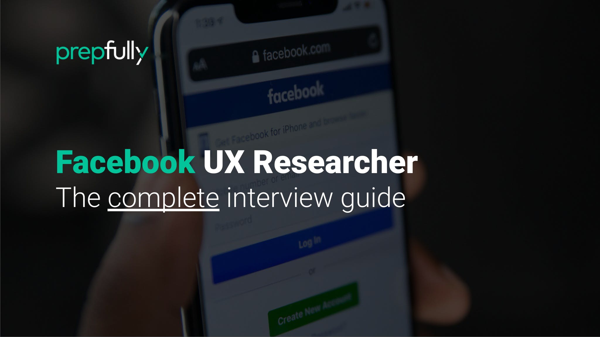 Interview guide for Facebook UX Researcher