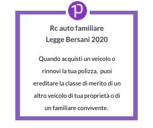 Legge Bersani 2020 - Rc Auto familiare
