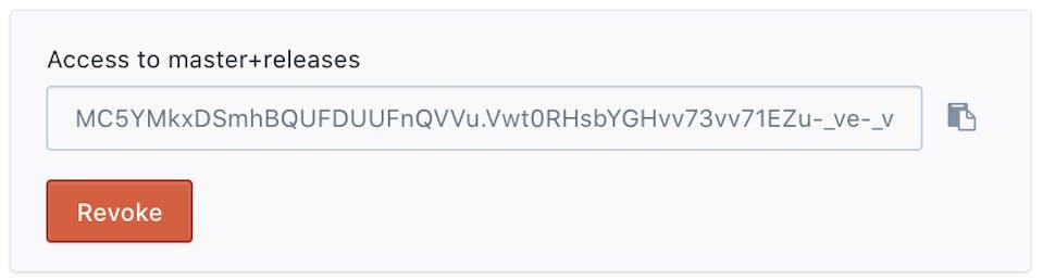 Access to previews token