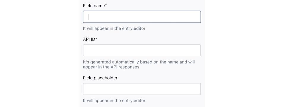 Screenshot of the Integration Field editor.