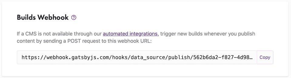 Builds Webhook