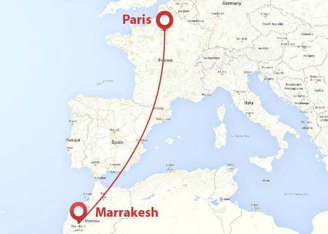 Paris to Marrakech