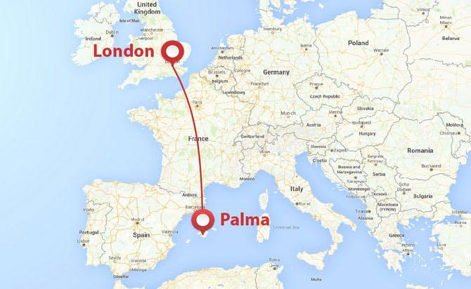 London to Palma