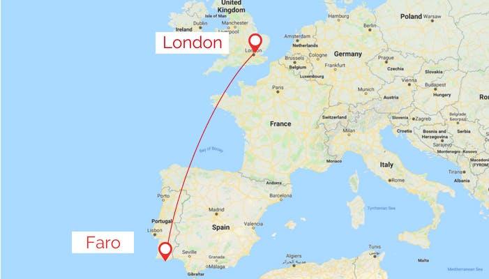 London to Faro