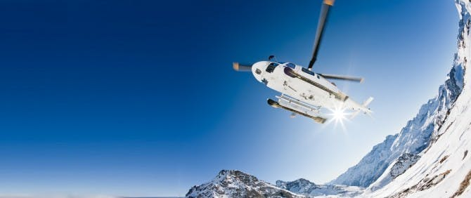 ski resorts by private jet and helicopters