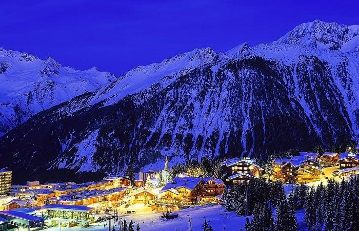 Ski village alps