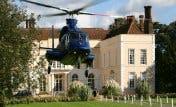 Helicopter to Hintlesham Hall